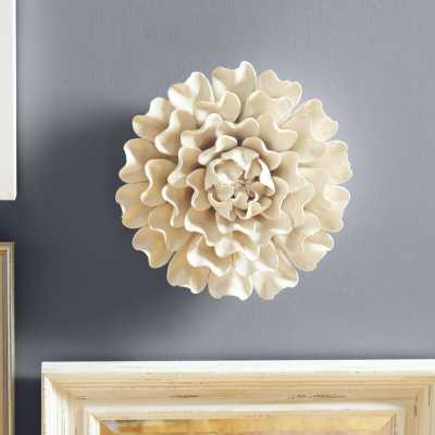 "Large 13"" Flower Wall Décor - Birch Lane"