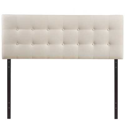 Corneau Upholstered Panel Headboard- Ivory - Queen - Wayfair