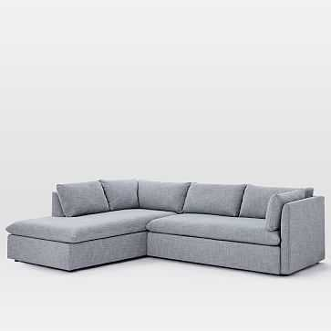 Shelter Set 2- Left 2-piece terminal chase sectional - West Elm