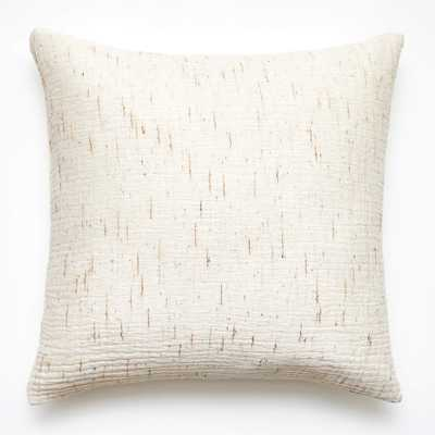 "23"" Nett Ivory Pillow with Down Insert - CB2"