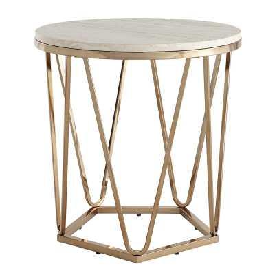 Trygve End Table - Gold - Wayfair