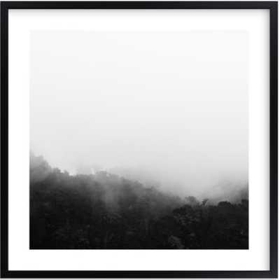 Bewilder 24x24 - matte black frame with white border - Minted