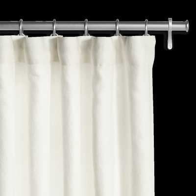 Belgian Flax Linen Drapery Off White, 50x84, Soft-Top with Privacy Lining - Barn & Willow
