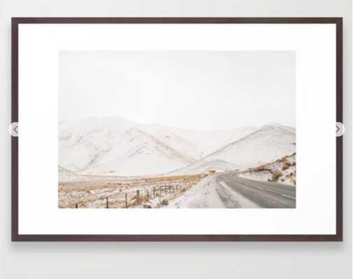 The Road Series V Framed Art Print - Society6