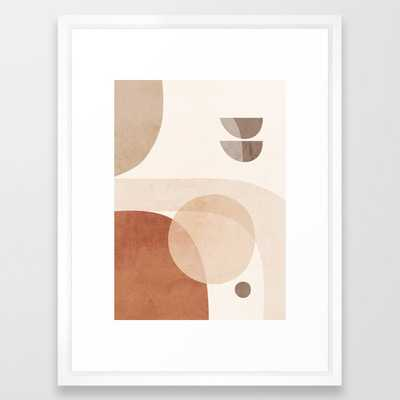Abstract Minimal Shapes 18 Framed Art Print - Society6