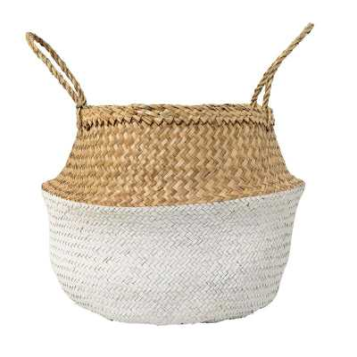 Seagrass Basket with Handles-natural - Wayfair