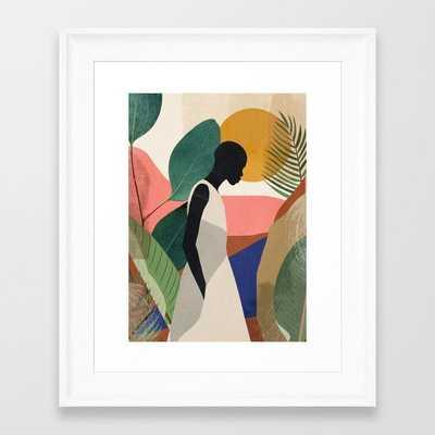 Tropical Girl Framed Art Print by ThingDesign - Society6