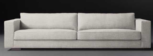 MADDOX SOFA - 9' Classic Depth Perennials Performance Fabric in Dove Standard Fill - RH
