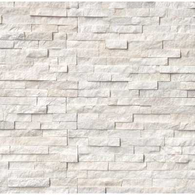 Arctic White Ledger Panel 6 in. x 24 in. Natural Marble Wall Tile (10 cases / 60 sq. ft. / pallet) - Home Depot