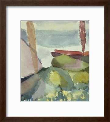 The Seaside in the Rain; See Ufer Bei Regen - art.com
