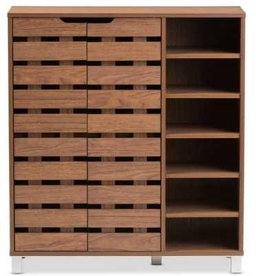 18-Pair Shoe Storage Cabinet - Wayfair