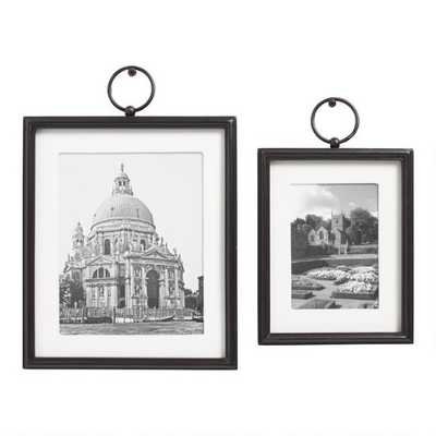 """Black Wood And Linen Wall Frame- 5x7"""" - World Market/Cost Plus"""