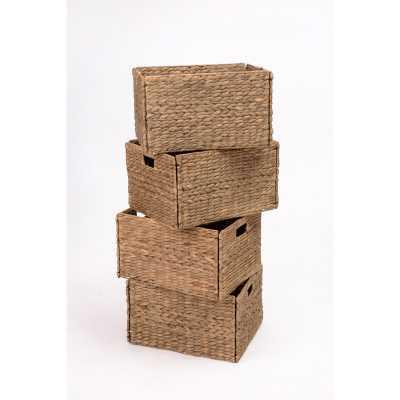 Wicker Basket set of 4 - Wayfair