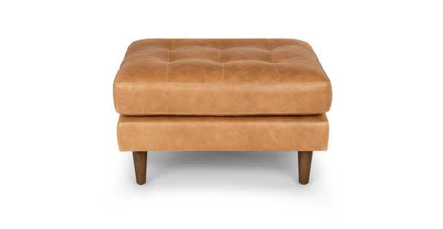 Sven Charme Tan Ottoman - Article