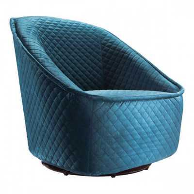 Pug Swivel Chair Aquamarine - Zuri Studios