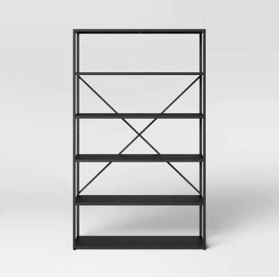 Glasgow 5 Shelf Metal Bookcase Black - Project 62™ - Target