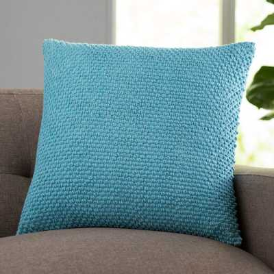 "Coleharbor Cotton 20"" Throw Pillow - Aqua - Insert Included - Wayfair"