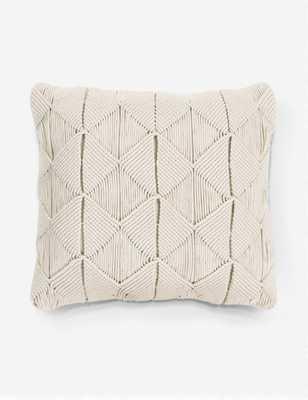 """Cantara Pillow, Natural 18"""" x 18""""- polyester - Lulu and Georgia"""