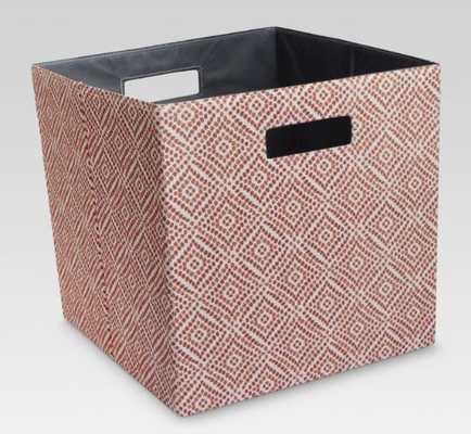 "Fabric Cube Storage Bin (13"") - Threshold™ - Red Diamond - Target"