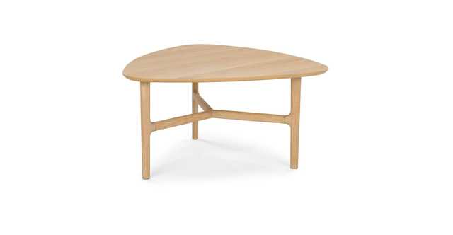 Brezza Light Oak Oak Triangular Coffee Table - Article