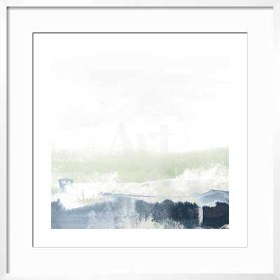 "Seafoam Horizon I By June Vess- 24""X24"" - Framed Canvas Gold and Black - art.com"