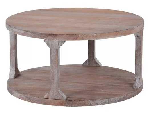 Matt Floor Shelf Coffee Table with Storage - Wayfair