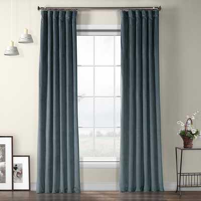 "Livia Riverton Solid Heritage Plush Velvet Rod Pocket Single Curtain Panel, 96"" L - Wayfair"