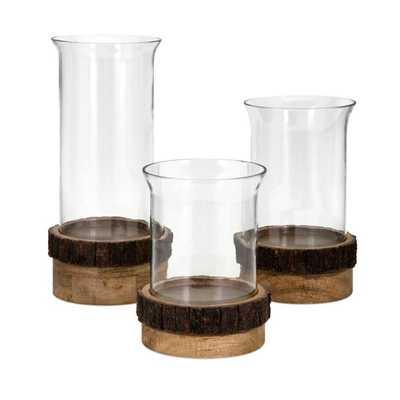Damari Pillar Candleholders - Set of 3 - Mercer Collection