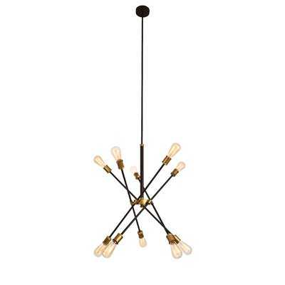 Everett 10 - Light Unique / Statement Modern Linear Chandelier - Wayfair
