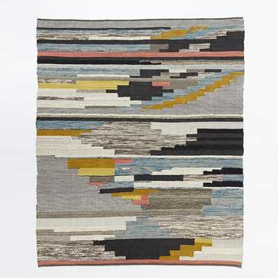 Pixel Steps Rug, Multi, 8'x10' - West Elm