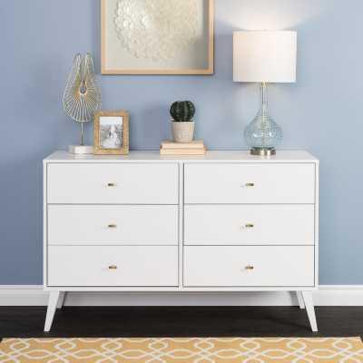 Shamar Mid Century Modern 6 Drawer Double Dresser - Wayfair