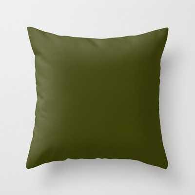 Dark olive Throw Pillow - Society6