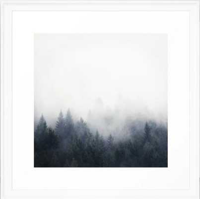 "I Don't Give A Fog Framed Art Print, Scoop White, 22"" X 22"" - Society6"