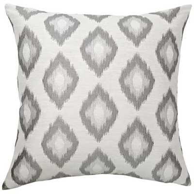 """Allegro Platinum 20"""" Square Throw Pillow - Lamps Plus"""