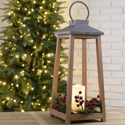 8.27'' Battery Powered Outdoor Lantern with Electric Candle - Wayfair