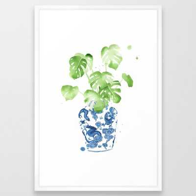 Ginger Jar + Elephant Ears Framed Art Print - Society6