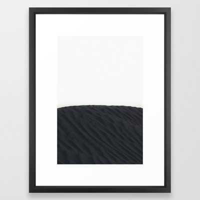 """Sand Dunes - Framed Art Print - Black & White - Vector Black - 20""""X26"""" - Society6"""
