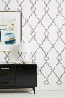Ribbon Stripe Trellis Collection: D21-Conservatory - York Wallcoverings