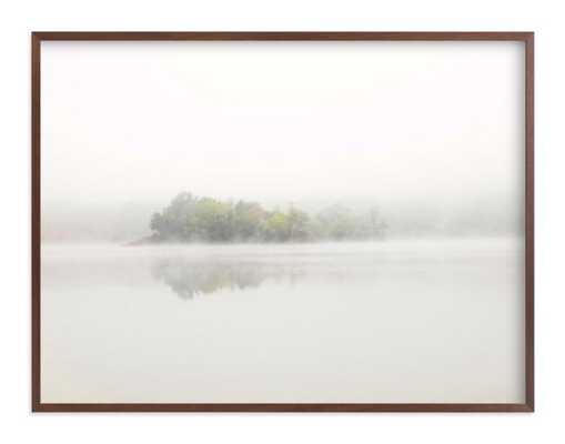 the island - walnut frame 30x40 - standard borders - Minted
