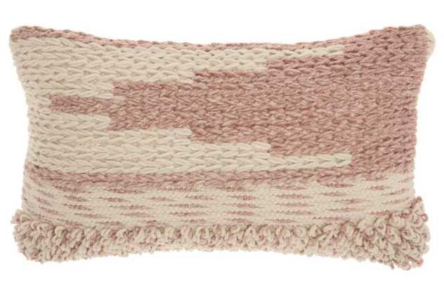 Ellijay Bohemian Textured Wool/Cotton Throw Pillow - Wayfair