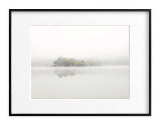 The Island - Rich Black Wood Frame - Matted - Minted