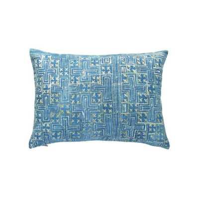 batik medium indigo petite pillow - PillowPia