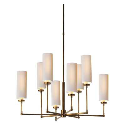 ZIYI CHANDELIER - HAND-RUBBED ANTIQUE BRASS, Large - McGee & Co.