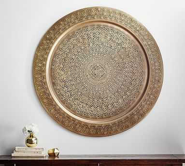"Decorative Metal Disc, 38"", Brass - Pottery Barn"