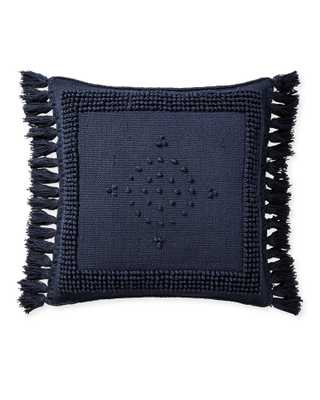 "Montecito Outdoor 24""SQ Pillow Cover - Navy - Insert sold separately - Serena and Lily"