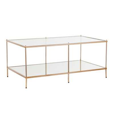 Pandora Warm Gold Cocktail Table - Home Depot