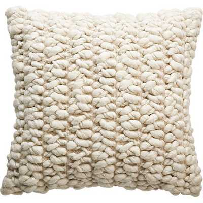 "20"" tillie wool pillow with down-alternative insert - CB2"