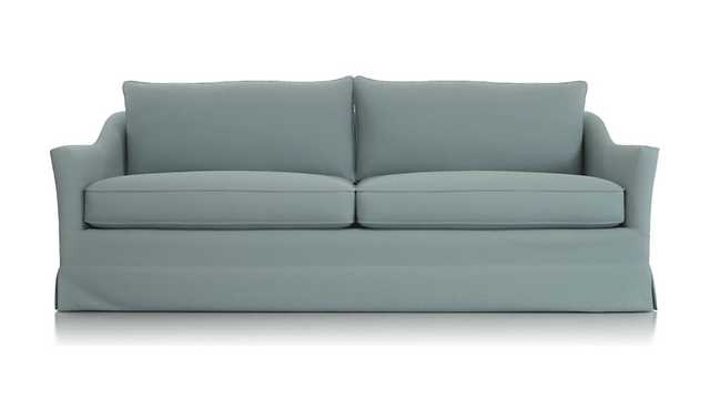 Keely Slipcovered Sofa, Newport Cloud - Crate and Barrel