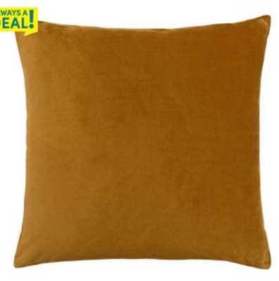 Golden Green Velvet Throw Pillow - World Market/Cost Plus
