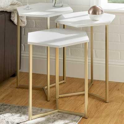 Labounty Hex 3 Piece Nesting Tables - Wayfair